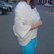 Одежда ручной работы. Ярмарка Мастеров - ручная работа Кофта спицами белая. Handmade.