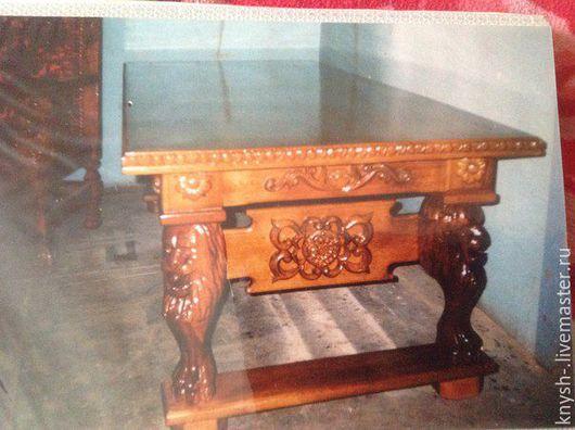Мебель ручной работы. Ярмарка Мастеров - ручная работа. Купить резной стол из дуба. Handmade. Комбинированный, дубовый стол