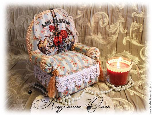 """Миниатюрные модели ручной работы. Ярмарка Мастеров - ручная работа. Купить кресло-шкатулка-игольница"""" Птицы райские"""". Handmade. Кресло"""