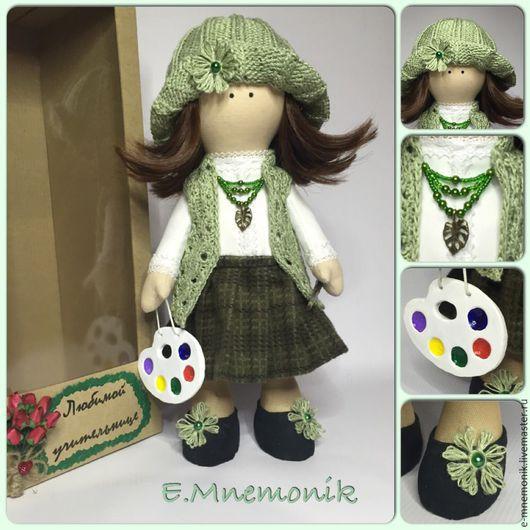 Коллекционные куклы ручной работы. Ярмарка Мастеров - ручная работа. Купить Художница. Handmade. Зеленый, кукла ручной работы