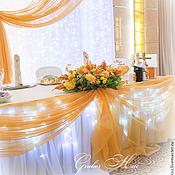 Свадебный салон ручной работы. Ярмарка Мастеров - ручная работа Свадебное оформление зала Оранжевая свадьба. Handmade.