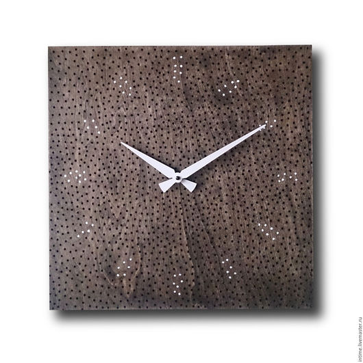 Часы для дома ручной работы. Ярмарка Мастеров - ручная работа. Купить Часы деревянные с дырками. Handmade. Коричневый, настенные часы
