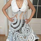 Одежда ручной работы. Ярмарка Мастеров - ручная работа сарафан белый ажур. Handmade.