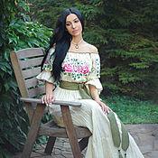 Одежда handmade. Livemaster - original item Fabulous dress with hand embroidery