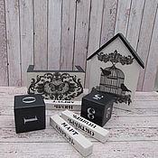 Для дома и интерьера handmade. Livemaster - original item Interior elements: The house and the perpetual calendar in the style of monochrome.. Handmade.