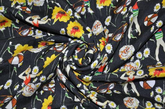 """Шитье ручной работы. Ярмарка Мастеров - ручная работа. Купить Крепдешин шелковый """"Dolce&Gabbana"""". Handmade. Крепдешин шелковый, Платье из шелка"""