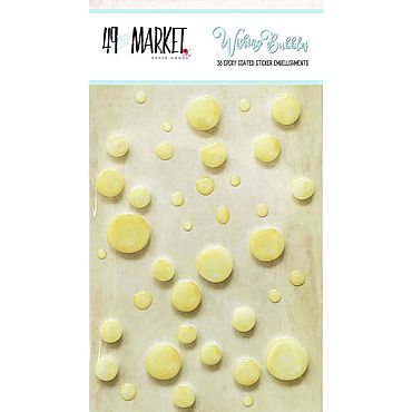 Материалы для творчества ручной работы. Ярмарка Мастеров - ручная работа Дотсы 49 And Market Epoxy Coated Wishing Bubbles 38/Pkg. Handmade.