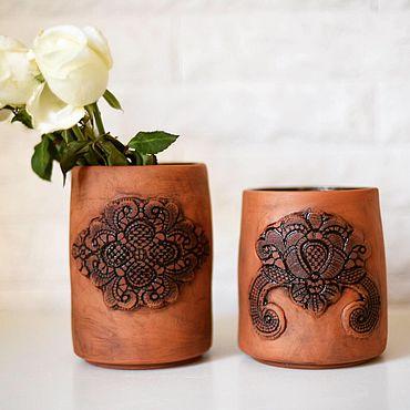 Для дома и интерьера ручной работы. Ярмарка Мастеров - ручная работа Пара ваз .. Handmade.