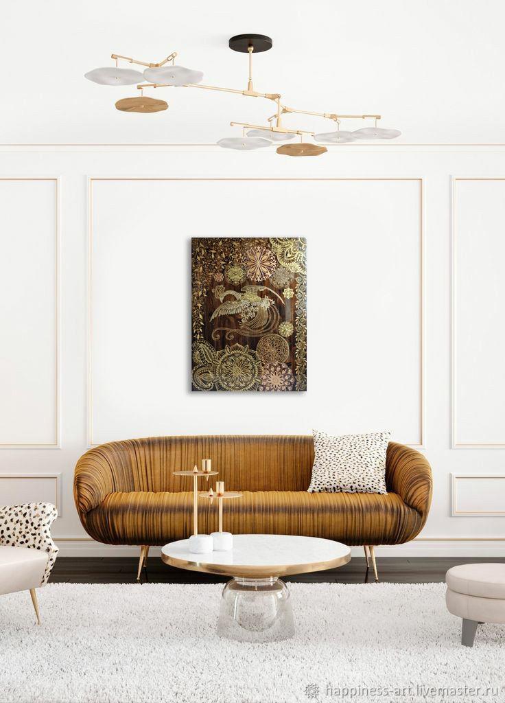 Панно декоративная картина Золотая Жар-птица в восточном стиле, Картины, Москва,  Фото №1