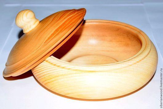 Конфетницы, сахарницы ручной работы. Ярмарка Мастеров - ручная работа. Купить Кубышка миска пиала из дерева - Сибирского кедра. Handmade.