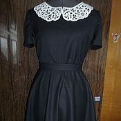 Платья ручной работы. Ярмарка Мастеров - ручная работа Маленькое черное платье с воротничком. Handmade.