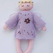 Куклы и игрушки ручной работы. Ярмарка Мастеров - ручная работа Кукла ангел из фетра бисер. Handmade.