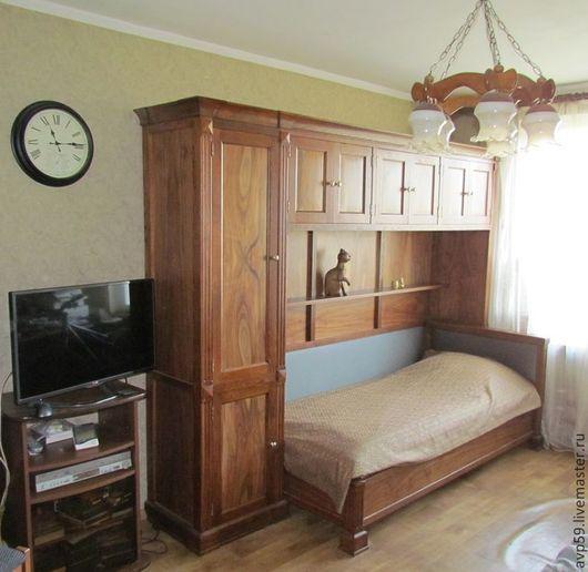 Мебель ручной работы. Ярмарка Мастеров - ручная работа. Купить Шкаф  кровать. Handmade. Шкаф, для юноши, дубовая мебель, спальня