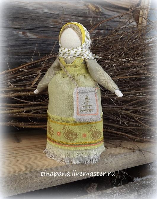 """Народные куклы ручной работы. Ярмарка Мастеров - ручная работа. Купить """"Целомудрие"""" авторская кукла. Handmade. Оливковый, хлопок"""