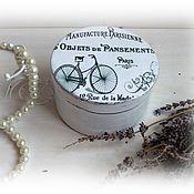 Для дома и интерьера handmade. Livemaster - original item Jewelry box round small Vintage