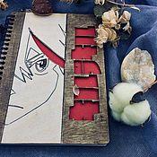 Канцелярские товары handmade. Livemaster - original item Kill la Kill/Ryuko Mat Wooden Notepad / Sketchbook. Handmade.