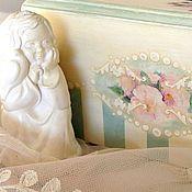 """Для дома и интерьера ручной работы. Ярмарка Мастеров - ручная работа Салфетница большая  """"Le jardin de rose"""". Handmade."""