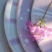 """Посуда ручной работы. Ярмарка Мастеров - ручная работа Набор тарелок """"Сиреневый туман"""". Handmade."""