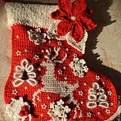 Сувениры и подарки handmade. Livemaster - original item Christmas Sapozhok