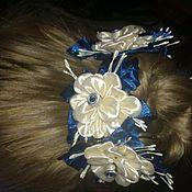 Работы для детей, handmade. Livemaster - original item elegant scrunchie for bun. Handmade.