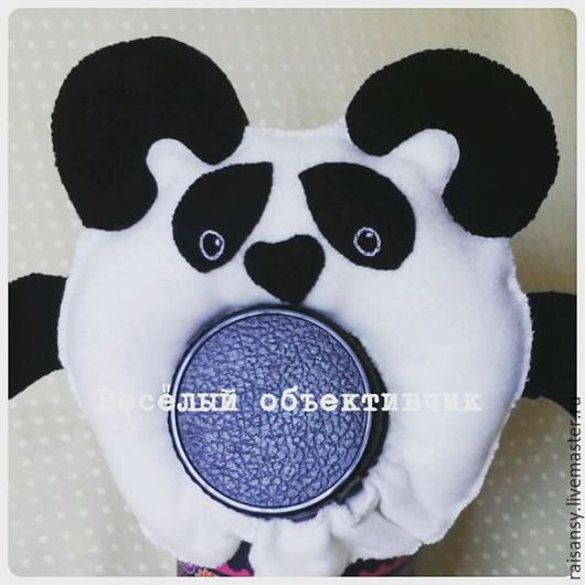 Игрушки животные, ручной работы. Ярмарка Мастеров - ручная работа. Купить Игрушка на объектив панда. Handmade. Объектив, чёрно-белый