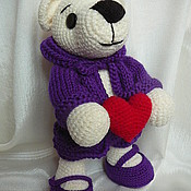 Куклы и игрушки ручной работы. Ярмарка Мастеров - ручная работа мишка в курточке. Handmade.
