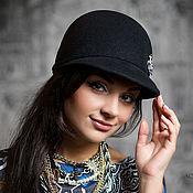 """Шляпы ручной работы. Ярмарка Мастеров - ручная работа Шляпка с козырьком """"Жокейка"""". Handmade."""