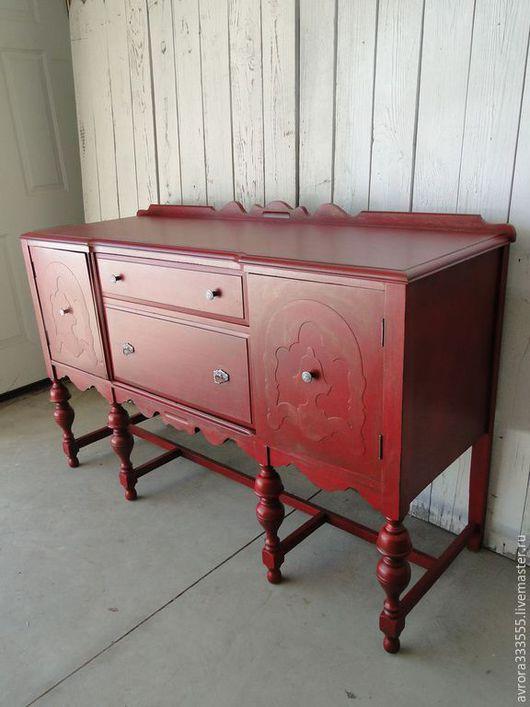 Мебель ручной работы. Ярмарка Мастеров - ручная работа. Купить Красный комод. Handmade. Ярко-красный, красный, комод, спальня