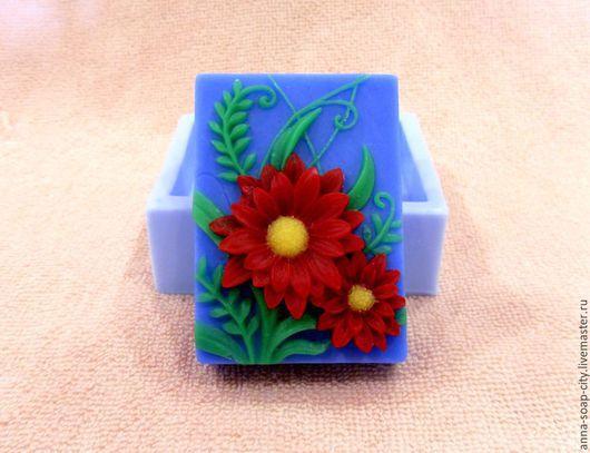 """Другие виды рукоделия ручной работы. Ярмарка Мастеров - ручная работа. Купить Силиконовая форма для мыла """"Цветы"""". Handmade."""