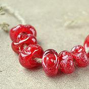 Украшения ручной работы. Ярмарка Мастеров - ручная работа Римские красные бусины - лэмпворк для браслета в стиле пандора. Handmade.
