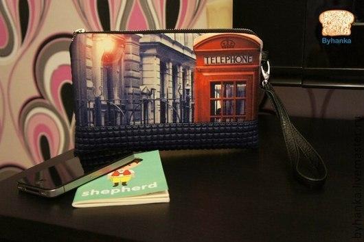 """Женские сумки ручной работы. Ярмарка Мастеров - ручная работа. Купить Клатч """"Telephone"""". Handmade. Клатч, клатч кожаный"""