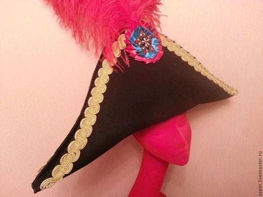 """Шляпы ручной работы. Ярмарка Мастеров - ручная работа. Купить Шляпа  """"Треуголка"""". Handmade. Черный, фетр, треуголка, головной убор"""