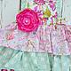 Одежда для девочек, ручной работы. Заказать Нарядный фартук сарафан для девочки феи Хлопок. Camilla Reynolds. Ярмарка Мастеров. Бантик
