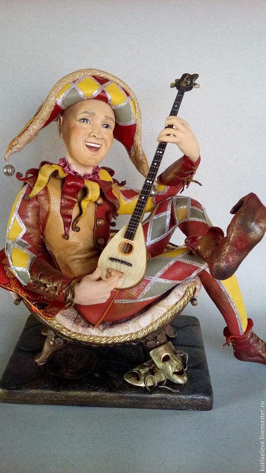 Портретные куклы ручной работы. Ярмарка Мастеров - ручная работа. Купить арлекин. Handmade. Кукла ручной работы, натуральная кожа