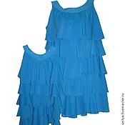 Одежда ручной работы. Ярмарка Мастеров - ручная работа Платья для мамы и дочки Морской бриз, комплект. Handmade.