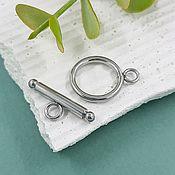 Материалы для творчества handmade. Livemaster - original item Toggle lock, ring 16 mm steel (5642). Handmade.