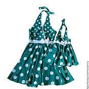 Одежда ручной работы. Ярмарка Мастеров - ручная работа Одинаковые платья для мамы и дочки. Handmade.