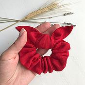 Украшения handmade. Livemaster - original item Fabric red elastic band for hair. Handmade.