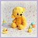 Мишки Тедди ручной работы. Ярмарка Мастеров - ручная работа. Купить Мишаня (6 см). Handmade. Желтый, подарок