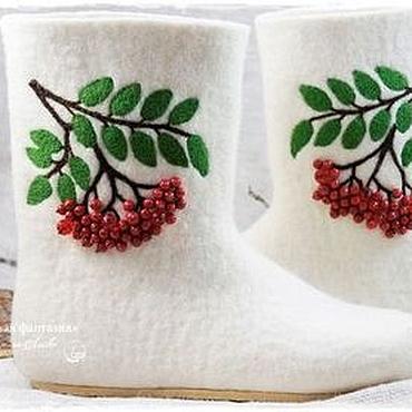 """Обувь ручной работы. Ярмарка Мастеров - ручная работа Валенки """"Рябина красная"""". Handmade."""