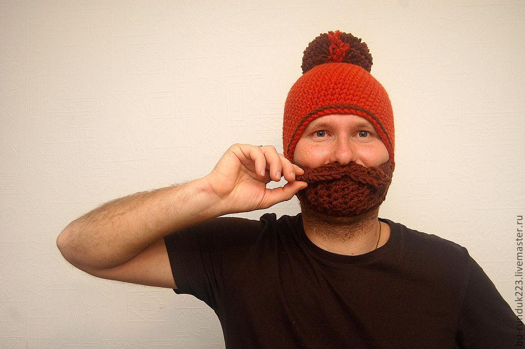 шапка с бородой купить в интернет магазине на ярмарке мастеров с