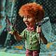 Сказочные персонажи ручной работы. Ярмарка Мастеров - ручная работа. Купить Гном Жак с бабочкой. Handmade. Салатовый, кукла в подарок