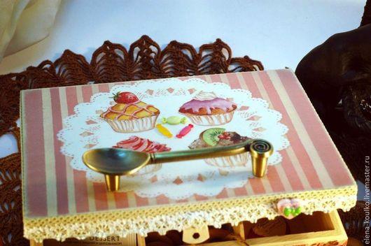 """Кухня ручной работы. Ярмарка Мастеров - ручная работа. Купить Чайная коробка """"Десертная"""". Handmade. Кремовый, чайная коробка"""