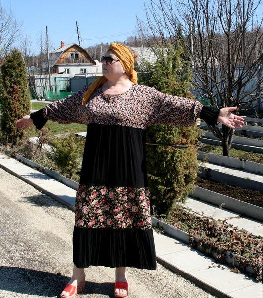 Цельнокройный рукав дает свободу в окружности груди.