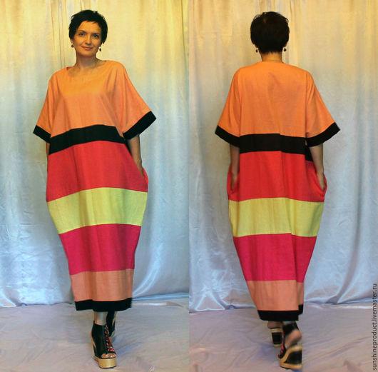 """Платья ручной работы. Ярмарка Мастеров - ручная работа. Купить Платье """"Royal Butterfly"""". Handmade. Комбинированный, Свободный стиль, лён"""