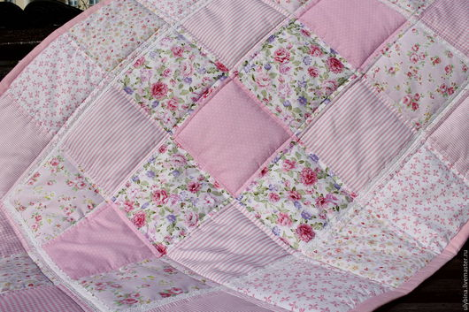 Пледы и одеяла ручной работы. Ярмарка Мастеров - ручная работа. Купить Розовая нежность. Handmade. Розовый, нежно розовый, девочкам