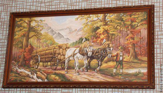 Животные ручной работы. Ярмарка Мастеров - ручная работа. Купить Повозка в лесу. Handmade. Разноцветный, картина, акриловые краски, животные