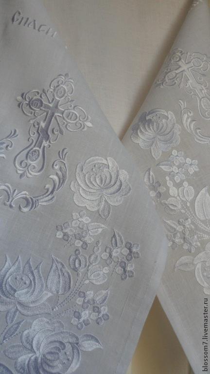 Свадебные аксессуары ручной работы. Ярмарка Мастеров - ручная работа. Купить Венчальный рушник и 4 платочка. Handmade. Белый, лён
