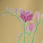 """Картины и панно ручной работы. Ярмарка Мастеров - ручная работа Живопись """"Три грации"""" подарок женщине картина для интерьера горчичный. Handmade."""