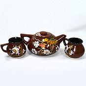 """Чайники ручной работы. Ярмарка Мастеров - ручная работа Чайный набор """"Весеннее настроение """". Handmade."""
